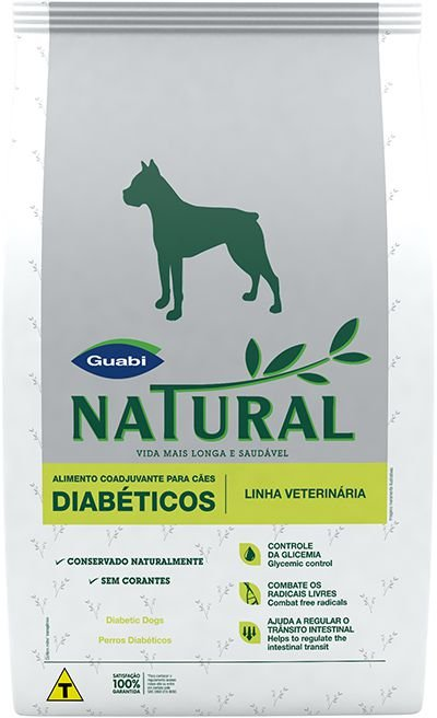 Ração Guabi Natural Para Cães Adultos Diabéticos - 10,1kg