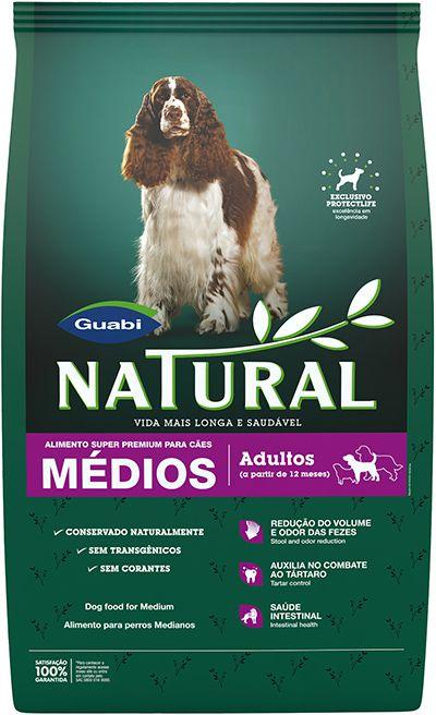Ração Guabi Natural Para Cães Adultos de Raças Médias - 15,0kg