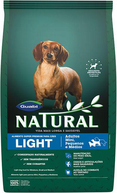 Ração Guabi Natural Light Para Cães Adultos de Raças Pequenas e Médias