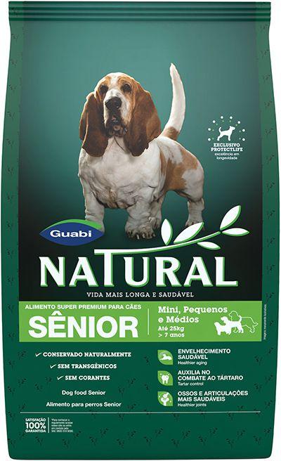 Ração Guabi Natural Para Cães Sênior de Raças Pequenas