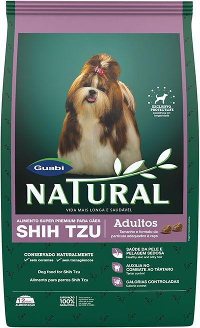 Ração Guabi Natural Para Cães Adultos da Raça Shih Tzu - 1,0kg