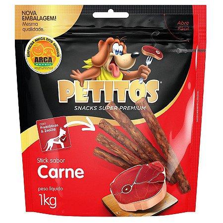 Petiscos Petitos Palito Para Cães Sabor Carne