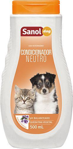Condicionador Neutro Sanol Dog Para Cães e Gatos Filhotes- 500ml