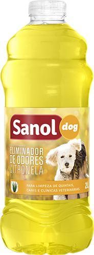 Eliminador de Odores Citronela Sanol Dog - 2l