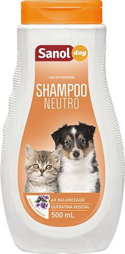 Shampoo Neutro Para Cães e Gatos Sanol Dog - 500ml