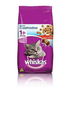 Ração Whiskas Para Gatos Castrados Sabor Carne