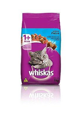 Ração Whiskas Para Gatos Adultos Sabor Peixe