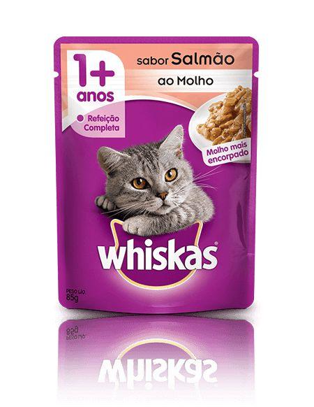 Ração Whiskas Para Gatos Adultos Sabor Salmão Sachê - 85g