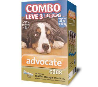 Antiplugas Advantage Combo Leve 3 e Pague 2 Para Cães Acima de 25kg - 4,0ml
