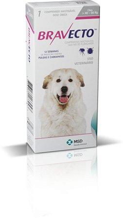 Antipulgas e Carrapatos Bravecto MSD Para Cães de 40kg a 56kg