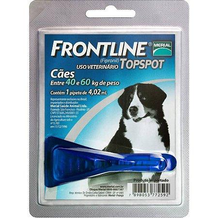 Antipulgas e Carrapatos Frontline Topspot Para Cães Acima de 40,0kg