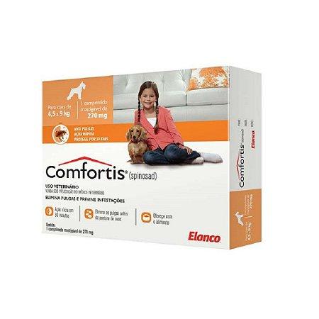Antipulgas Comfortis 270mg Elanco Para Cães de 4,5 a 9 kg e Gatos de 2,8 a 5,4 kg