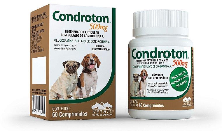 Condroton Vetnil 500mg Com 60 Comprimidos