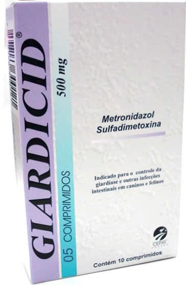 Antibiótico Giardicid 500mg Cepav Com 5 Comprimidos