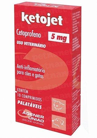 Anti-Inflamatório Ketojet 5mg Agener União Com 10 Comprimidos