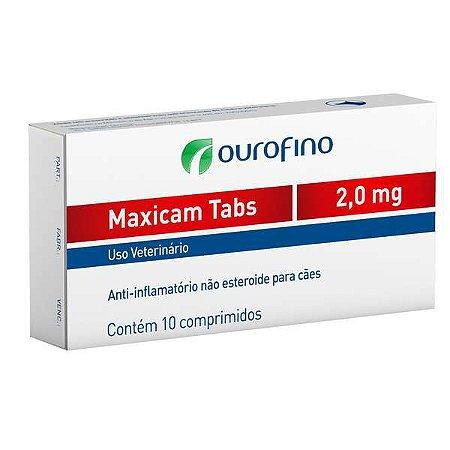Anti-Inflamatório Maxicam Plus Ouro Fino 2,0mg Com 8 Comprimidos