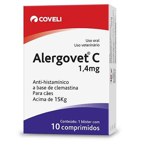Anti-Histamínico Alergovet Coveli 1,4mg Para Cães e Gatos Com 10 Comprimidos