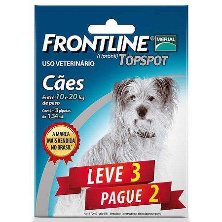 Frontline Topspot Para Cães De 10 a 20kg (Combo) Leve 3 Pague 2