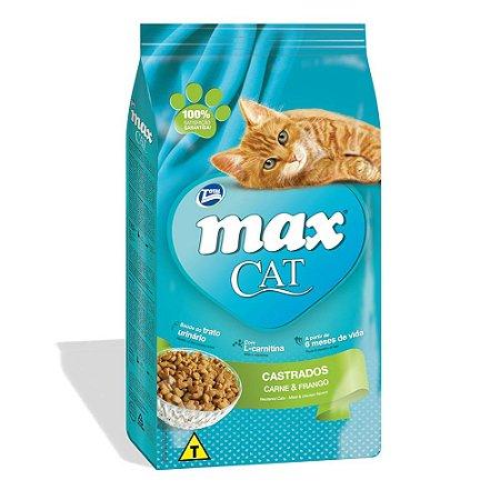 Ração Max Cat Sabor Carne e Frango Para Gatos Castrados 1kg