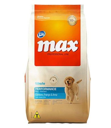 Ração Max Professional Line Cães Filhote Sabor Cordeiro,  Frango E Arroz