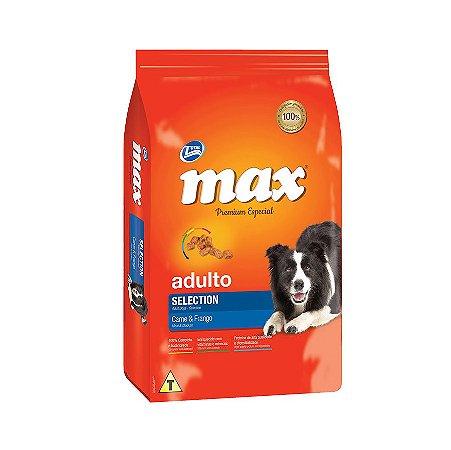 Ração Max Selection para Cães Adultos Sabor Carne e Frango