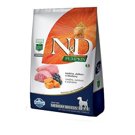 Ração N&D Pumpkin Para Cães Adultos de Raças Médias Sabor Cordeiro 10,1kg