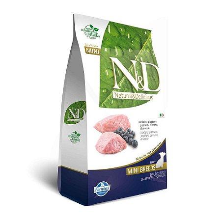 Ração N&D Grain Free Para Cães Filhotes de Raças Pequenas Sabor Cordeiro 2,5kg