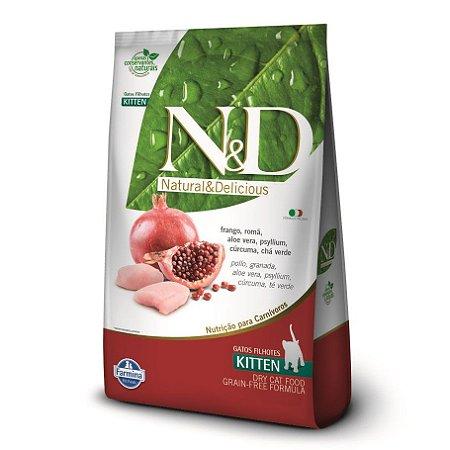 Ração N&D Grain Free Para Gatos Filhotes Sabor Frango e Romã 2,5kg