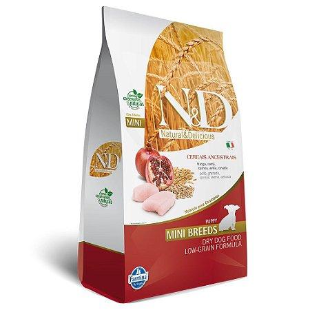 Ração N&D Low Grain Para Cães Filhotes de Raças Pequenas Sabor Frango e Romã