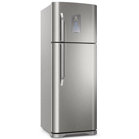 Refrigerador Electrolux TF52X Top Frost Free com Prateleiras Retráteis 464L - Inox  [0,1,0]