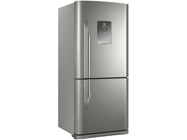 Refrigerador Electrolux DB84X Frost Free com Bottom Freezer 598L - Inox  [0,1,0]