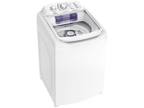 Lavadora de Roupas Electrolux Automática LAC12 Topload com Dispenser Autolimpante e Cesto Inox 12kg - Branca
