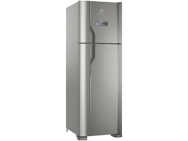 Refrigerador Electrolux DFX41 Frost Free com Turbo Congelamento 371L - Inox  [0,1,0]