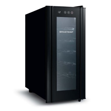 Adega de Vinhos Brastemp Climatizada BZC12BE Wine Cooler para 12 Garrafas - All Black