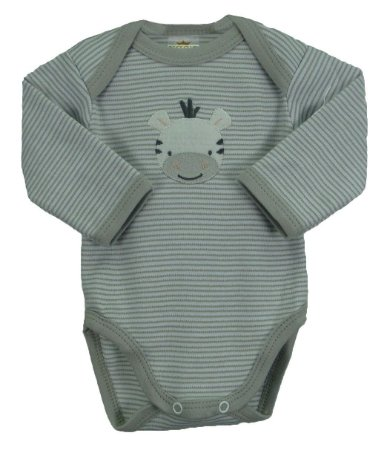 9eea4bdc7 Conjunto de Body e calça nas cores cinza/branco: Body manga longa e calça