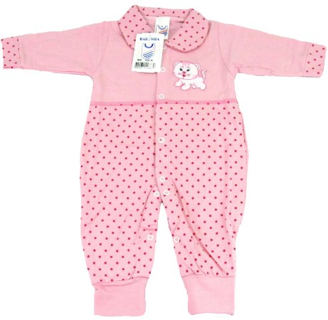 bbb3426b34e88 Macacão sem Pé Meia Malha Menina Rosa - Babynha - Kids Club Fashion ...