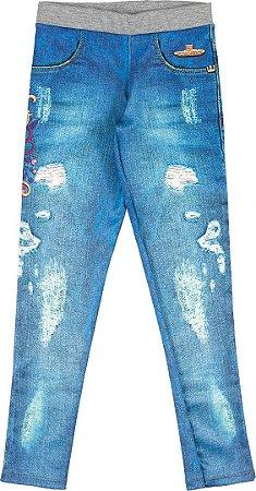ae9d76e83 Calça Legging em Volga Menina Azul Jeans - Colorittá - Kids Club ...