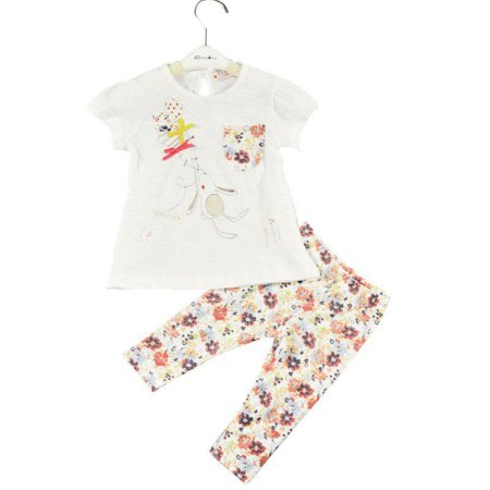 Short Doll Infantil Camiseta Coelhinha + Leggings florais