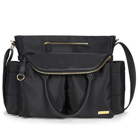 Bolsa Maternidade SKIPHOP (Diaper Bag) Chelsea - Black - ******* - GANHE 1 Roll Around Coruja  - o chocalho mordedor premiado para o seu bebe******