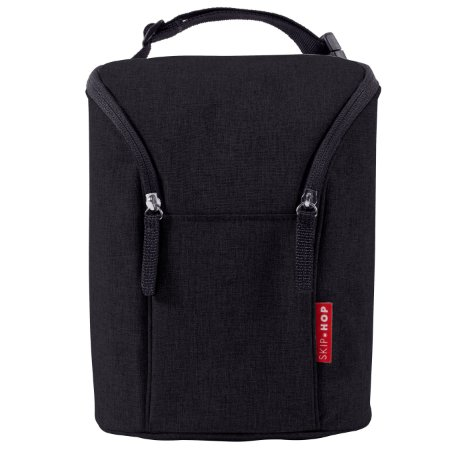 Bolsa termica para mamadeira SKIPHOP - Double Bottle Bag - (On the Go) - Black