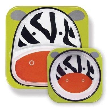 Conjunto de pratos Zoo - Zebra