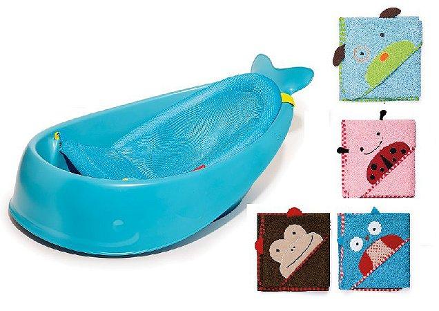 Banheira Moby +  1 Toalha da linha Zoo - Escolha a sua toalha - SUPER COMBO SKIPHOP