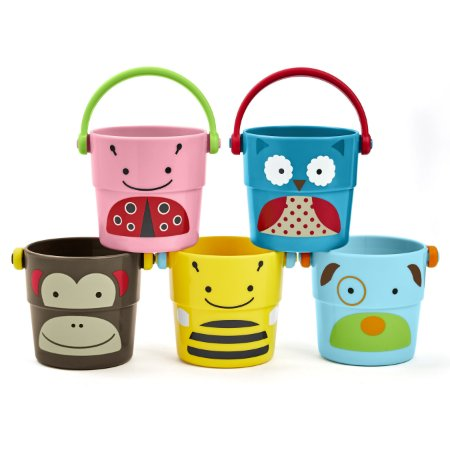 Zoo Banho Skip Hop - Pilha de baldinhos para o banho