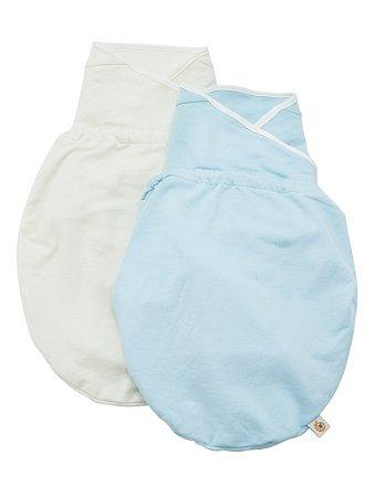 Swaddler (small/medium) - Embalagem com 2 unidades (cores: Blue e Natural) - O Cueiro Inteligente- Sono tranquilo para o seu bebe