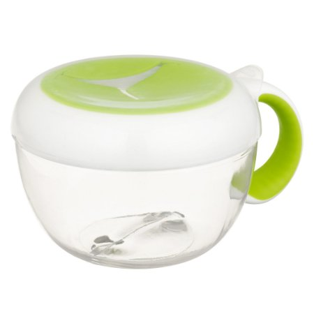 Pote de lanche infantil com Alça Tot Flippy ™ Snack Cup Oxotot - Verde - 235 ml