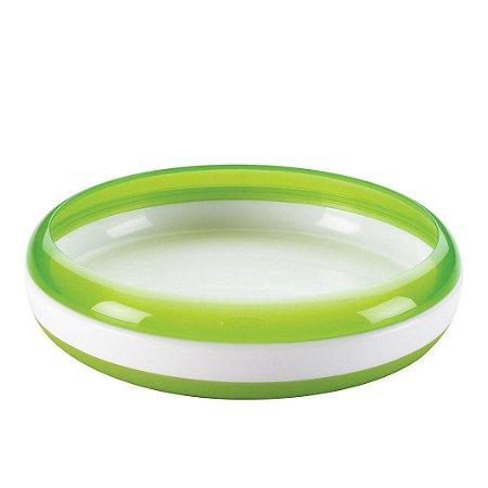 Prato treinamento OXOtot Verde ***Para as primeiras refeições do bebê***   250 ml e base anti-derrapante e anel de ajuda