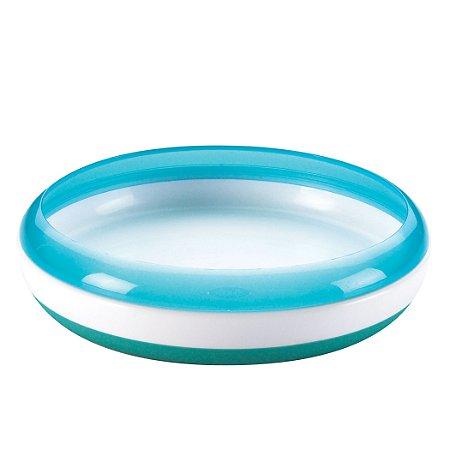 Prato treinamento OXOtot Azul ***Para as primeiras refeições do bebê*** 250 ml e base anti-derrapante e anel de ajuda