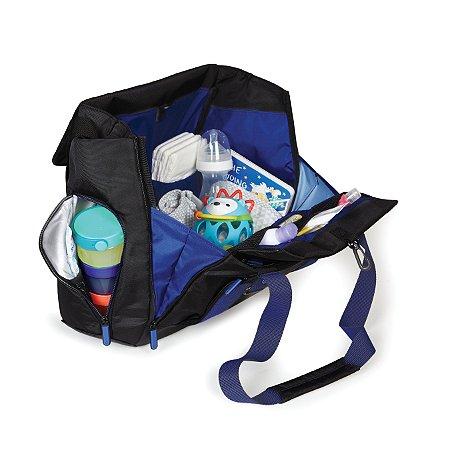 Bolsa Maternidade (Diaper Bag) - Fit All - Black Cobalt *****SUPER LANÇAMENTO MUNDIAL****** Acompanha trocador e torre com potes para a comidinha.