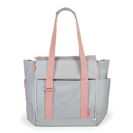 Bolsa Maternidade SKIPHOP (Diaper Bag) - Fit All - Platinum Coral *****SUPER LANÇAMENTO MUNDIAL****** Acompanha trocador e Torre com pote de comida !