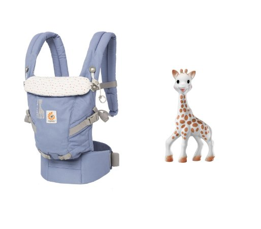 COMBO: Canguru Ergobaby - Modelo Adapt: Edição Sophie La Girafe + Mordedor Sophie La Girafe